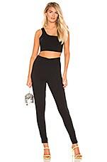 superdown Jacqueline Asymmetrical Pant Set in Black