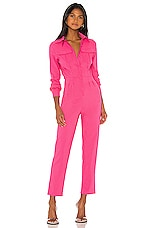 superdown Alicia Button Up Jumpsuit in Pink
