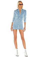 superdown Julia Denim Dress in Light Blue Wash