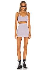 superdown Malia Knit Skirt Set in Lavender Multi