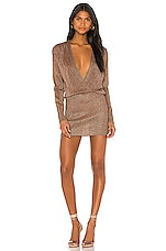 superdown Aura Mini Dress in Mocha Metallic