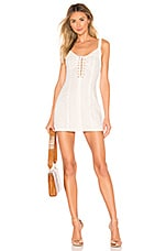 superdown x REVOLVE Stacey Lace Up Dress in White