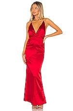 superdown Gwynne Bias Cut Dress in Red