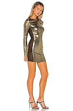 superdown Marianna Mesh Mini Dress in Gold