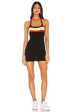 superdown Lottie Halter Mini Dress in Black