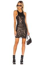 superdown Tristian Cut Out Dress in Black Multi
