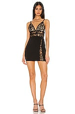 superdown Torie Mini Dress in Black