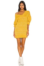 superdown Noura Sweater Dress in Marigold