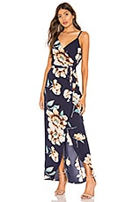 superdown Dina High Low Maxi in Blue Floral