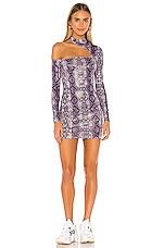 superdown Isla Mini Dress in Purple Snake
