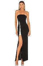 superdown Shellie Strapless Gown in Black