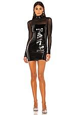 superdown Kirsten Mesh Mini Dress in Black