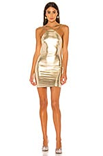 superdown Melanie Strappy Mini Dress in Gold