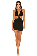 superdown Siena Cut Out Mini Dress in Black