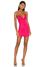 superdown Sydney Sparkle Mini Dress in Pink