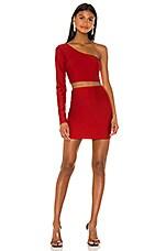 superdown Reva One Shoulder Skirt Set in Red