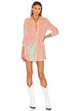 superdown Vella Shirt Dress in Pink Sequin