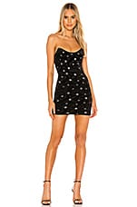 superdown Stevie Sweetheart Mini Dress in Black Metallic