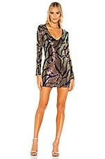 superdown Rhonda Long Sleeve Dress in Multi Sequin