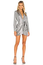 superdown Geraldine Blazer Dress in Silver