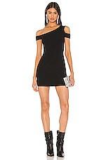 superdown x Draya Michele Quin One Shoulder Dress in Black