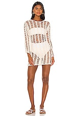 superdown Miranda Crochet Mini Dress in White
