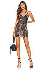 superdown Fiona Floral Mini Dress in Black Multi
