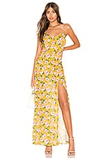 superdown Lorie Slit Maxi Dress in Yellow Floral