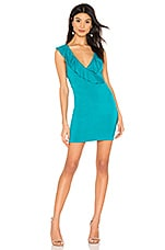 superdown Flora Ruffle Mini Dress in Teal