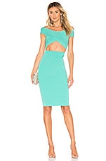 superdown Hallie Cut Out Dress in Aqua