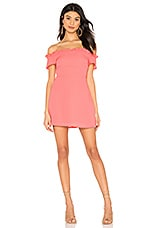superdown Dulipa Off Shoulder Dress in Coral