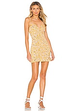 superdown AJ Ruffle Cami Dress in Yellow Floral