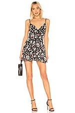 superdown Sienna Fit & Flare Dress in Black Floral