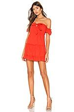 superdown Ashlyn Frill Mini Dress in Red