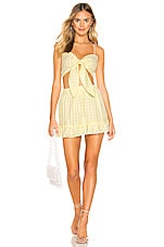 superdown Cher Skirt Set in Yellow Plaid