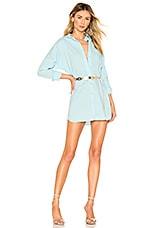 superdown Miranda Button Up Dress in Light Blue