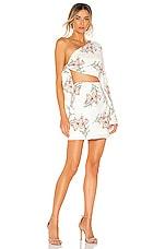 superdown Essie One Shoulder Dress in White Floral