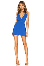 superdown Sharona Pleated Mini Dress in Cobalt Blue