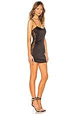 superdown Rue Lace Insert Mini Dress in Black