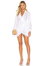 superdown Sophie Draped Mini Dress in White