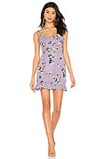 superdown Charlene Frill Mini Dress in Lavender
