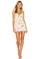 superdown Gianni Ruffle Mini Dress in Multi Floral