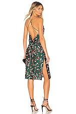 superdown Paloma Cowl Back Dress in Green Leopard