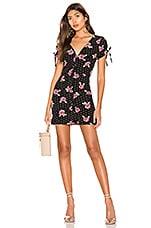 superdown Lainie Button Mini Dress in Floral Polka Dot