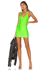 superdown Brandi Halter Tie Dress in Neon Green
