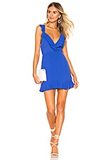 superdown Emily Ruffle Flare Dress in Blue