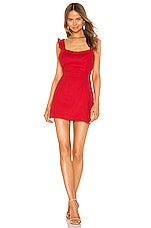 superdown Sirena Ruffle Sleeve Dress in Red