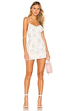 superdown Eilena Fit & Flare Dress in White Floral
