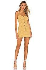 superdown Millie Button Up Dress in Yellow Plaid