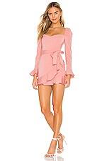 superdown Khloe Ruffle Sleeve Mini Dress in Blush